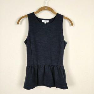 Madewell black fit & flare sleeveless top